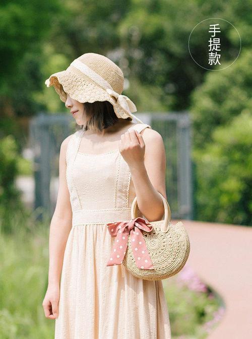 棉草钩针手提包