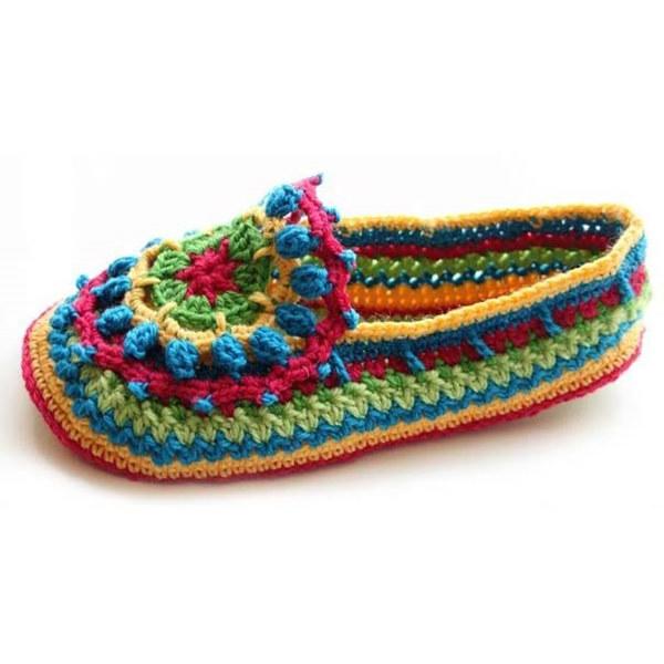 钩针毛线鞋