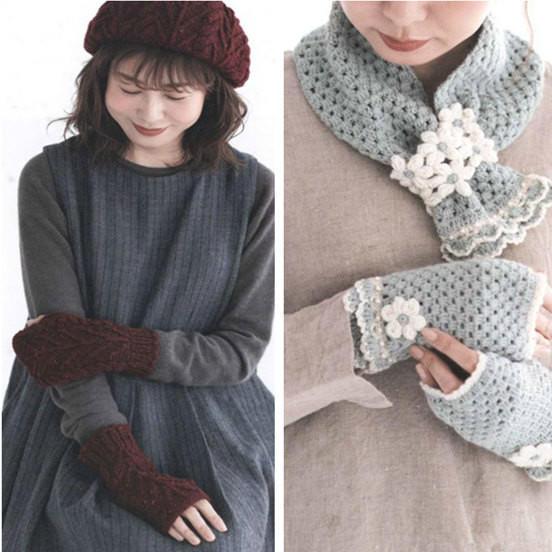 手工编织围巾帽子手套