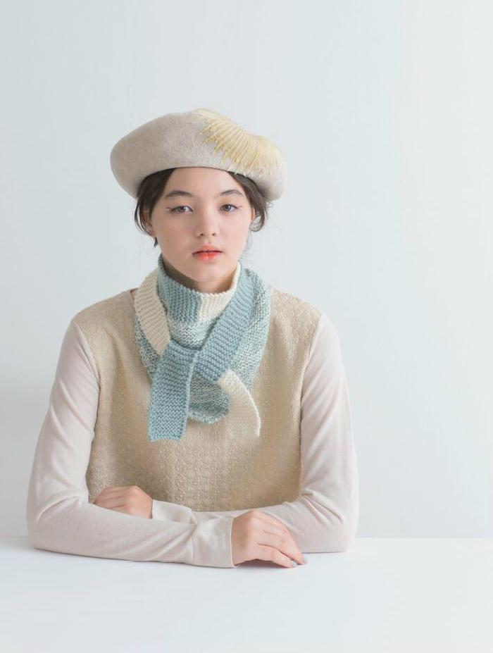 女士棒针小围巾