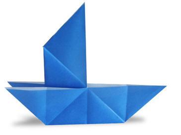 手工折纸教程之乌篷船和帆船的图解