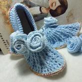 鞋垫变鞋子 创意居家室内毛线鞋编织视频