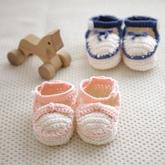 男女宝宝都适合的宝宝钩鞋编织图解