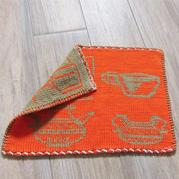非常适合织毯子织围巾的有趣双色双面编织