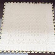 别样美丽方形爱沙尼亚蕾丝披肩花样改版织棒针盖毯