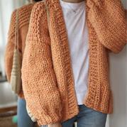 一天就能完成的超粗针织女士棒针羊毛开衫毛衣外套