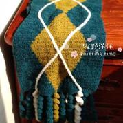 小圈圈线钩针编织与众不同英伦风流苏围巾(新手也可以的)
