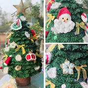 金葱线打造钩针毛线豪华版圣诞树