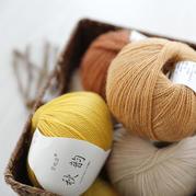 雪妃尔秋韵 羊毛蕾丝美丽诺细羊毛线机织围巾披肩线