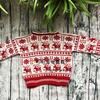 家用编织机SK280机织儿童棒针圣诞麋鹿提花毛衣(内含自制图解)