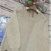 暖冬 简约好织男童棒针元宝针套头毛衣