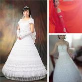 织女们巧手编织圆一个公主梦 手工编织婚纱欣赏