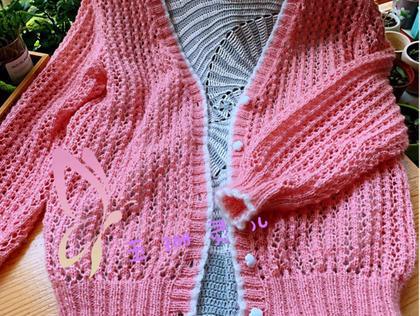 家用编织织LK150机织女士棒针马海镂空开衫