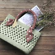 适合夏季的小巧钩针棉草手提包编织视频教程
