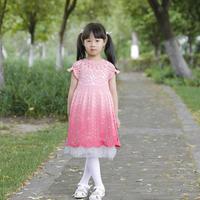 魔法公主裙(3-2)从领口往下钩儿童钩针育克圆肩公主裙编织视频