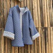 毛线球同款女士钩针双面花纹外套开衫