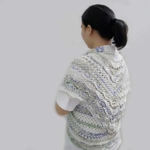 贵妇人改版女士钩针外套开衫