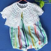 婴儿吊带外搭钩针圆摆小开衫
