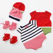 跳跳糖小爬服(3-1)婴幼儿棒针爬服套装编织视频