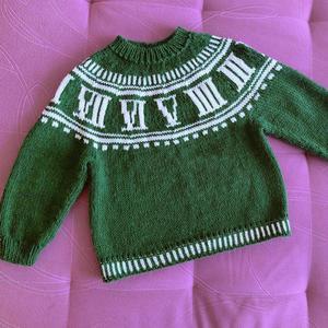 十二时辰 喵夫人大雪粗针织 儿童棒针提花套衫