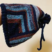 可两用的酷酷棒针多米诺帽子