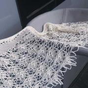 野玫瑰 女士棒针蕾丝羊绒披肩