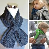 虽然它很小但很暖 经典XY型结构小围巾编织创意欣赏