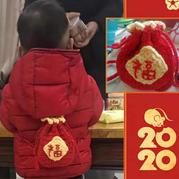 将幸福和吉祥装进袋子里 创意编织钩针新年小福袋