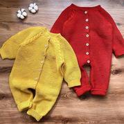 宝宝麻花爬服 从领口往下织宝宝棒针连体衣编织视频教程