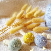 可爱棒针小蘑菇编织图解