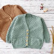 欢乐颂小开衫(2-1)棒针儿童毛衣外套编织视频教程