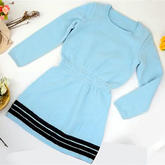 灵叶毛衣裙(4-1)女士棒针连衣裙编织视频教程