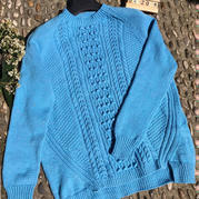 蜜妮安 不规则底边显瘦女士棒针羊绒衫(第十届编织大赛作品)