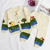 朝阳(11-7)婴幼儿棒针开衫裤子套装织法编织视频