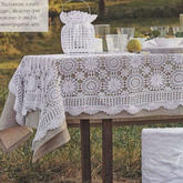 手工编织浪漫田园风钩针拼花蕾丝桌布