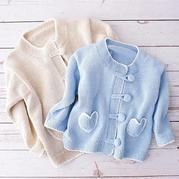 爱心小外套 中式风格儿童棒针开衫毛衣编织视频教程