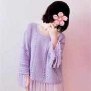 紫藤 喵夫人新夏至波西米亚风女士钩针流苏罩衫