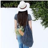 网兜也时尚 织法超简单的文艺ins风钩针渔网包