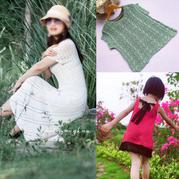 202024期周热门编织作品:钩织女士裙装与儿童毛衣15款