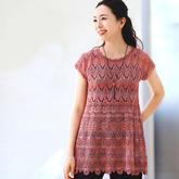 女士钩织结合裙式短袖编织图解