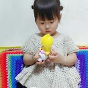 童稚 给小朋友钩的娃娃衫型短袖大摆裙衣