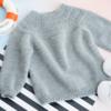 安加毛衣(2-1)从上往下儿童棒针圆肩毛衣视频教程