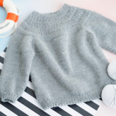 安加毛衣(2-2)从上往下儿童棒针圆肩毛衣视频教程