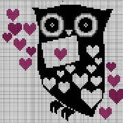 呆萌可爱28款猫头鹰图案图解 织毛衣钩毯子都可以喔
