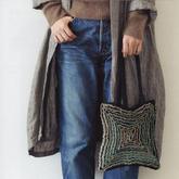 创意钩织女士钩针木耳花手提包编织图解