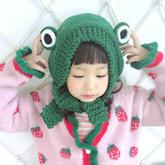 萌系青蛙护耳帽 8股双线编织棒针帽子编织视频教程