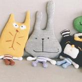 玩偶大嘴兔(2-1)家用编织机LK150机织玩偶编织视频