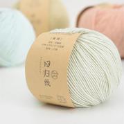 回归线【童趣】宝宝棉线新生儿婴儿帽子线diy手工编织毛衣细线