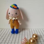 可爱的垂耳兔 娃娃家钩针编织兔子玩偶