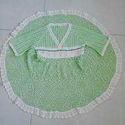 拼拼凑凑的儿童钩针汉服裙